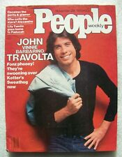 John Travolta ~ 1976 People Magazine ~ Very Good+ Condition ~ No Label