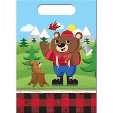 Lumberjack Bear Squirrel Birthday Party Supplies Treat Bags