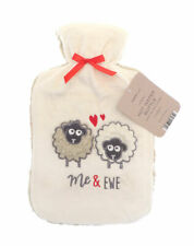 A Novelty ' Sheep me and ewe' Design Hot Water Cover With Bottle