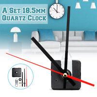 18.5mm Spindle Black+Red Hand Quartz Clock Movement Mechanism Silent DIY Repair
