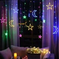 Christmas Lights Moon Star Lamp LED Lamp String Ins Decoration Holiday LightsS3C
