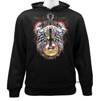 Rock And Roll Guitar Music Insturment Funny Joke Humor Graphic Pullover Hoodie