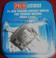 Peco Lectrics Passing Conctact Switch for turnouts (white Lever) PL-26W