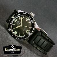 1960's CORTEBERT Swiss Vintage Diving Automatic Steel Date Watch ETA Cal. 2462