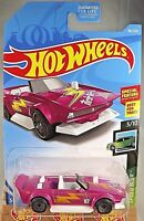 2019 Hot Wheels #86 Speed Blur 3/10 TRACK MANGA Pink w/Gray Wheels Gray Lace Sp