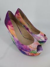 Aldo Brindamour Paint Splat Wedge Shoes UK 5 EU 38 LN26 54