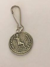 Denarius Of Tiberius Coin WC60 Made From Fine English Pewter on a Zip Puller