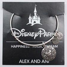 NEW Disney ALEX AND ANI Disneyland Mickey's Fun Wheel SILVER Bangle Bracelet
