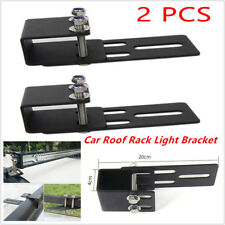 2PCS Car Roof Luggage Rack LED Work Light Bracket Holder Bumper Mounting Kit Bar