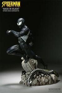 SIDESHOW SPIDER-MAN BACK IN BLACK COMIQUETTE POLYSTONE STATUE 200008 NEW