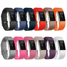 StrapsCo Silicone Replacement Strap Band for Fitbit Charge 2