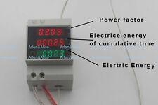 Din rail voltmeter ammeter active power Energy meter voltage current 80-300V