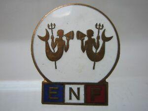 Insigne émaillé E.N.F Ecole de Natation Française Secrétaria d'Etat + marque dos