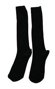 DOLCE & GABBANA Socks MId-Calf Black Wool Stretch Women Accessory s. M
