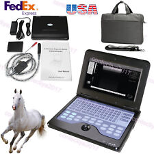 Veterinary Bovine&equine Ultrasound scanner Portable Laptop Machine Rectal Probe