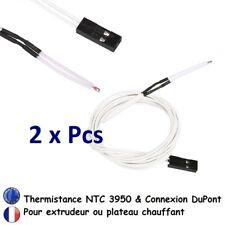 2x Câble Thermistance100k NTC3950 Connecteur DUPONT Imprimante 3D Printer