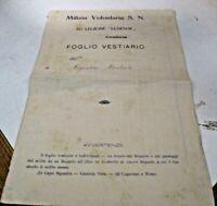 documento originale anni 30 - MILIZIA VOLONTARIA S.N. 35^ LEGIONE LUNENSE