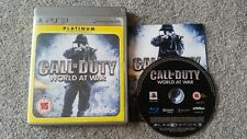 Call Of Duty 5 World At War PS3 avec Zombie Mode Platine