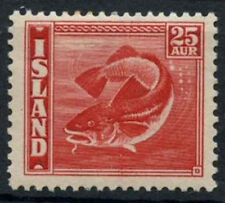 Iceland 1939-1940 SG#250, 25a Scarlet Cod, Fish P14x13.5 MH Cat £90 #A90739