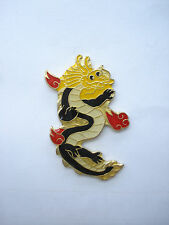 DRAGON TATTOO YAKUZA JAPAN CHINA LION BEAST GOOD LUCK CHARM ENAMEL PIN BADGE 99p