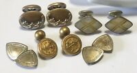ANTIQUE VICTORIAN,ART DECO, NOUVEAU GOLD FILLED/WASHED/PLATED MOP CUFF LINKS