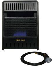 ProCom Vent-Free Propane Heater 10000 BTU Blue Flame 2 Heat Settings Thermostat