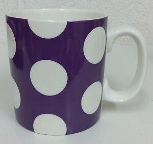 WM. Bartleet & Sons 1 Pint Spotty Mugs Spots Porcelain Purple  - NEW