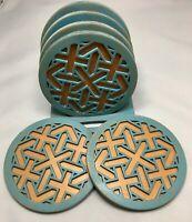 Wood coaster set of 6