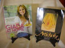 2 COOKBOOKS  THE ARTICHOKE COOKBOOK/GIADA AT HOME GIADA DE LAURENTIIS