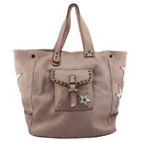 Bayside borsa shopping due manici in pelle vintage made in Italy Bs 257