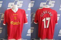 Liverpool home 2001/2002/2003 #17 GERRARD Sz 50/52 Reebok football shirt jersey