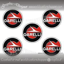 5 ADESIVI DECAL STICKERS MOTO GARELLI