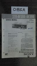 Sony str-av380 av390 Service Manual Original stereo tuner radio receiver repair
