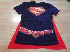 Women's Superman M T-Shirt Tee w/Cape Costume