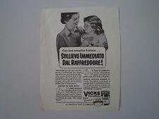 advertising Pubblicità 1953 VICKS VAPORUB