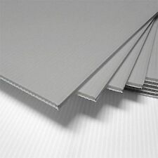"5 SILVER Corrugated Plastic 18"" x 24"" 4mm Coroplast yard signs blank CRAFT-"