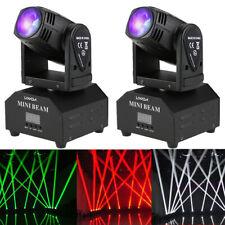 2PCS Lixada 60W RGBW Beam Moving Head Stage Lighting Strobe Disco Light DMX512