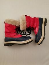 Khombu Women's Waterproof Fur-Lined Red Winter Snow Boots 7 Waterproof Shoes
