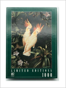 COCKATOO jigsaw puzzle 1000 piece birds tropical NWF Editions Limited Edition