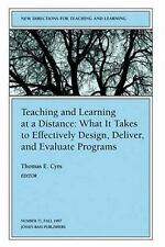 Teaching and Learning at a Distance: New Directions for Teaching and Learning, N
