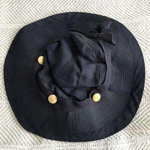Mill y Code Vintage Navy Blue Wide Brim Floppy Sun Hat Children's Size 22 EUC