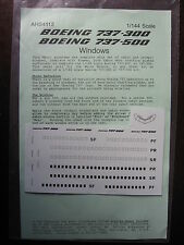 1/144 BOEING 737-300 737-500 WINDOWS DECALS AHS 4113 DECALCOMANIE