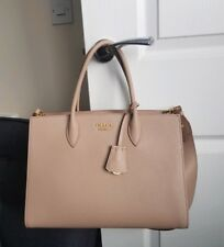 Genuine Prada Women s Beige Saffiano Leather bag with Detachable Strap 4307760104