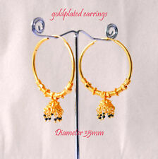 Snap Closure Yellow Gold Plated Beauty Costume Earrings
