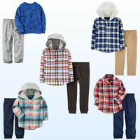 NWT New Baby/Toddler Boys 2Pc Set Shirt & Jogger Pant Outfit Playwear