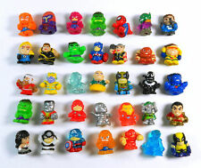 RANDOM 12pcs Lot SQUINKIES Marvel Super Hero Hulk Spiderman Iron Man Mini Figure
