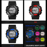 30M Life Waterproof Men's Luminous Functional Sports Digital Electronic Watch