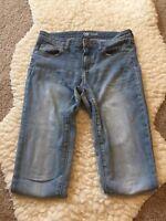 GAP Denim legging Women's Denim Cotton destructed/patched jeans size 4/28