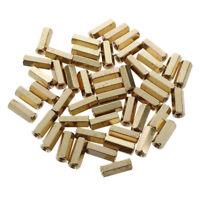 50 piezas de 12mm Longitud M3 Rosca hembra Hexagonal de Metal Espaciadores N4Z7