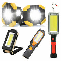 Premium Portable Led Work Light Cob Floodlight Recharge Lamp Magnetic Hook 66##